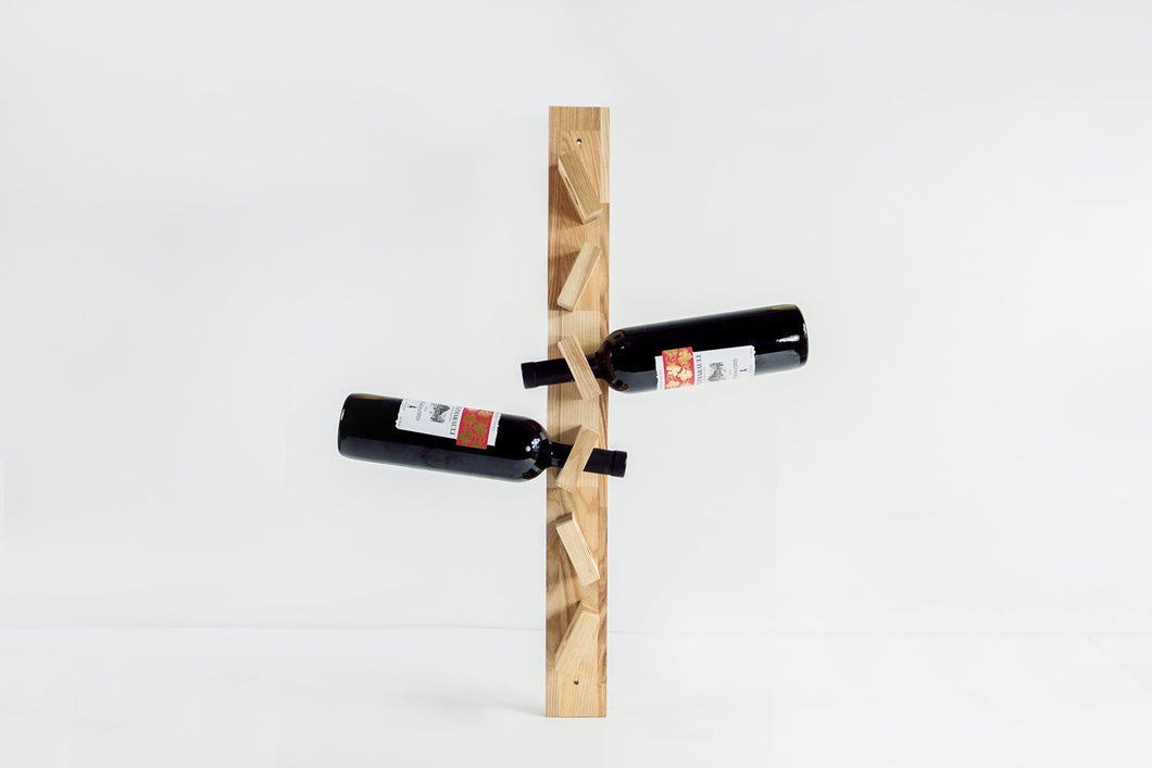 Wood wine rack, Rustic wine rack, Wine lover gift, Wine racks, Wooden bottle holder