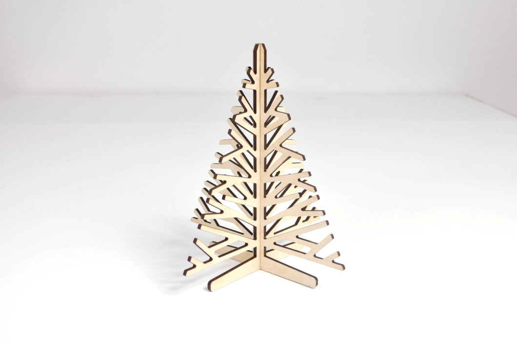 Christmas tree small - Wooden Christmas tree - Standing Christmas tree - Tabletop Christmas tree - Christmas ornament - Christmas decoration