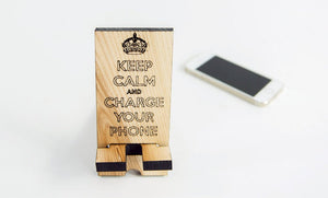 Wood Phone Stand, Charging Dock, Wooden Docking Station,Boyfriend Christmas Gift