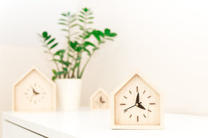 Desk clock wood - Desk clock gift - Rustic gift for him - Desk accessories - Rustic gift parents