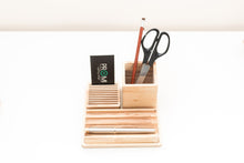 Load image into Gallery viewer, Desk organizer - Desk organizer for her-  Desk accessory gift - Gift for men organizer