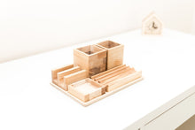 Load image into Gallery viewer, Desk Organizer - Wood Desk Gift - Desk Organizer For Him - Desk Gift Men - Wooden Desk Organizer - Desk Organizer For Men - Father Gift Wood