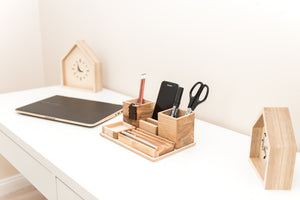 Desk Organizer - Wood Desk Gift - Desk Organizer For Him - Desk Gift Men - Wooden Desk Organizer - Desk Organizer For Men - Father Gift Wood