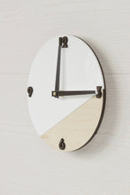 Load image into Gallery viewer, Modern Wall Decor, Round Clock, Minimalist Clock, Wooden Clock, Plywood Clock, White Clock, Rustic Wall Decor, Wall Clock, Wooden Clock