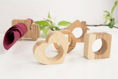 Wood napkin rings, Wedding napkin rings, Rustic napkin rings, Wood napkin hoder