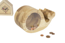 Load image into Gallery viewer, Whale Money Box, Solid Wood Money Box, Wood Bank,  Collectible Coin Box, Piggy Bank, Baby Gifts