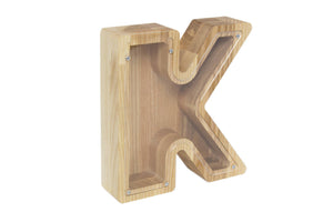 Wooden Money Box - Piggy Bank - Money Box Wood - Money Box -Toddler Gift Name - Kate