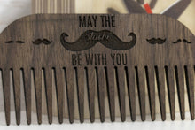 Load image into Gallery viewer, Mustache Comb - Beard Brush - Beard Grooming - Beard Comb - Wooden Comb - Wood Comb
