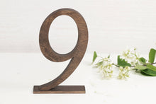 Load image into Gallery viewer, Table Numbers, Wedding Table Numbers, SET of 15, Wood Table Numbers, Table Numbers Wedding, Wooden Table Numbers, Rustic Table Numbers