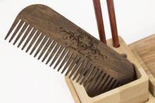 Load image into Gallery viewer, Wood Comb, Men Comb, Hair Brush For Men, Husband Gift Wood, Men Comb Gift, Hair rustic comb
