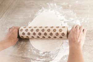 Cookie Stamp, Embossed Rolling Pin, Cookies, Wood Rolling PinGift For Her, Kitchen