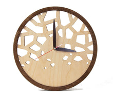 Load image into Gallery viewer, Modern Clock Wooden  - New House Gift - Wall Clock Wooden - Unique Wall Clock - Wooden Clock Gift