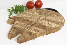 Load image into Gallery viewer, Wooden Cutting Board Millennium Falcon Wooden Chopping Bord Boyfriend Christmas Gift Chopping Block