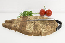 Load image into Gallery viewer, Wooden Cutting Board, Millennium Falcon, Wooden Chopping Board, Boyfriend Christmas Gift, Chopping Block