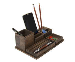 Desk organizer - Phone stand holder - Teacher gift ideas - Coworker gift - Police officer gift