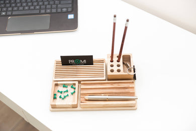 Desk Organizer, Desk Accessories, Desk Organizer For Him, Pencil Holder Gift, Desk Accessories Wood, Desk Gift Wood, Desk gift For Him