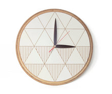 Load image into Gallery viewer, Wall Clock, Wood Clock, Large Wall Clock, Rustic Clock, Unique Wall Clock, Modern Clock
