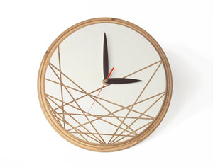 Wooden Clock, Wall Clock, Wooden Wall Clock, Minimalist Clock,  Modern Wall Decor