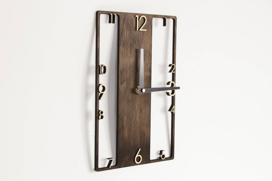 Wood Clock Modern, Rustic Wall Clock, Rustic Interior, Wood Clock Wall, Wall Clock, Modern Clock, Wood Clock, Wooden Clock, Modern Interior