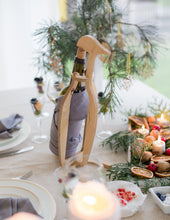 Load image into Gallery viewer, Wood Wine Bottle Holder Penguin Wine Holder Christmas Centerpiece Wine Stand