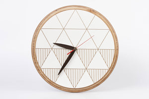 Wall Clock, Wood Clock, Large Wall Clock, Rustic Clock, Unique Wall Clock, Modern Clock