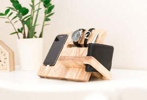 Wooden Docking Station,  Boyfriend Christmas Gift, Christmas Gift for Husband