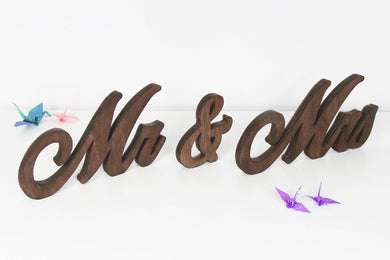 Mr and Mrs Wedding Table Decor - Mr and Mrs Wedding Signs - Wooden Signs Mr and Mrs