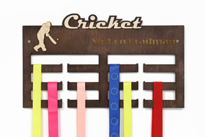 Medal Display, Cricket Gifts, Medal Hanger, Medal Holder, Personalized Medal Rack,Cricket Lover