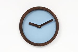 Wood Clock, Blue Clock, Modern Clock, Rustic Clock, Large Wall Clock, Wooden Wall Clock
