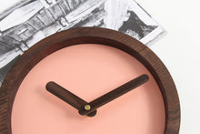 Load image into Gallery viewer, Wood Clock, Pink Clock, Wooden Clock, Nursery Wall Decor, Nursery Clock,Wooden Wall Clock
