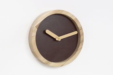 Wall Clock, Round Clock, Wood Clock, Brown Clock, Wall Clock Wood, Living Room Decor