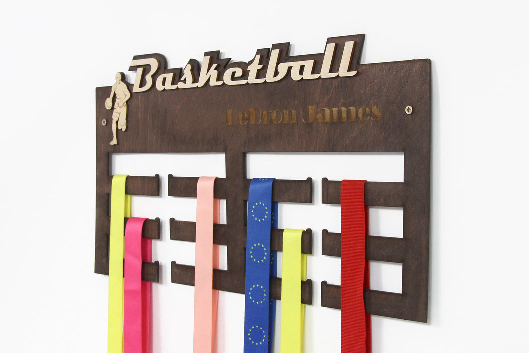 Basketball, Medal Hanger, Basketball Gifts, Medal Display, Medal Rack, Medal Holder, Kids Wall Art, Basketball Coach Gift, Basketball Mom