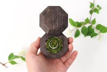 Load image into Gallery viewer, Ring Bearer Box, Wooden Ring Box, Engagement Ring Box, Wedding Ring Box, Wood Ring Box, Ring Box, Rustic Ring Box, Proposal Ring Box