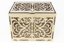 Load image into Gallery viewer, Wedding Card Box, Wedding Card Holder, Card Box For Wedding, Money Box, Laser Cut Box