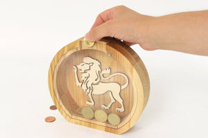 Piggy Bank, Leo, Money Bank, Money Box, Leo Zodiac, Baby Shower Gift,Astronomy, Zodiac Gifts