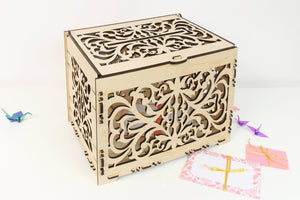Wedding Card Box, Wedding Card Holder, Card Box For Wedding, Money Box, Laser Cut Box