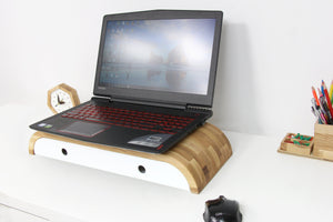 Laptop Stand, Lap Desk, Gift For Boyfriend, Desk Accessories, Monitor Stand, Laptop Tray