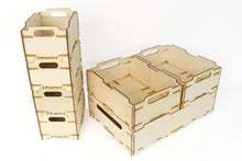 Load image into Gallery viewer, Wood Crates, Toys Storage, Plywood Box, Dog Toy Box, Wooden Tool Box, Fruit Box