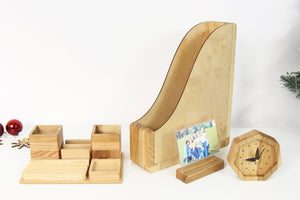 Office Desk Accessories, Husband Christmas Gift, Boyfriend Christmas Gift, Wood Desk Organizer