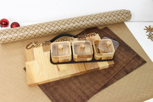Christmas Placemats, Wooden Cutting Board, Wood Spice Rack, Christmas Gifts for Parents