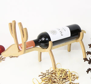 Wooden bottle holder, Best frined Christmas gift,Wine lover gift, Christmas table centerpiece