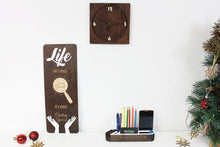 Load image into Gallery viewer, Christmas Gifts for Parents, Rustic Wall Clock, Wood Desk Organizer, Christmas Gift for Mom