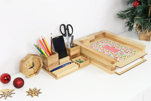 Coworker Christmas gift, Christmas Gift for Husband, Christmas Gifts for boyfriend, Wooden Desk Organizer, Desk Organization