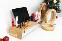 Load image into Gallery viewer, Make Up Brush Holder, Sister Christmas Gift, Make Up Organizer, Girlfriend Christmas Gift, Make Up Mirror, Make Up Holder