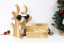 Load image into Gallery viewer, Wood Wine Rack, Christmas Gifts for Parents, Girlfriend Christmas Gift, Ottoman Tray, Breakfast Tray