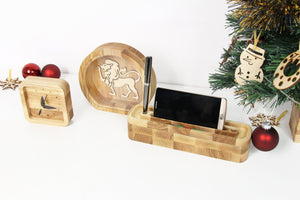 Piggy Bank, Wooden Desk Organizer, Husband Christmas Gift, Girlfriend Christmas Gift