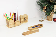 Load image into Gallery viewer, Girlfriend Christmas Gift,Husband Christmas Gift, Wooden Desk Organizer, Wooden Pen Holder