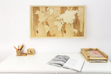 Large world map, Wooden World Map Wall Art, Wooden World Map, Rustic Office Decor, Wood World Map