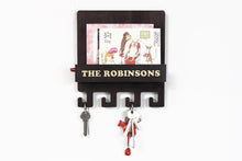 Load image into Gallery viewer, Entryway organizer Mail and key holder for wall Key holder for wall Wall key rack