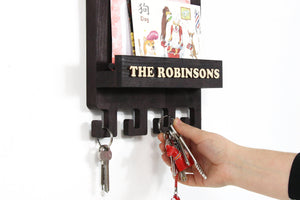 Entryway organizer Mail and key holder for wall Key holder for wall Wall key rack